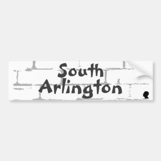 Pegatina para el parachoques del sur de Arlington Pegatina Para Auto