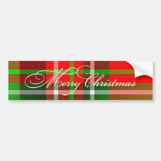 Pegatina para el parachoques del tartán del navida pegatina de parachoque