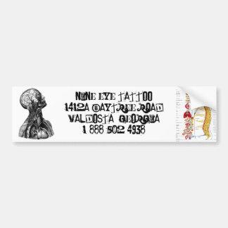 Pegatina para el parachoques del tatuaje de nueve  pegatina para auto