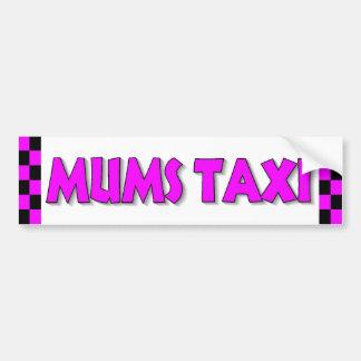 Pegatina para el parachoques del taxi de las momia pegatina de parachoque