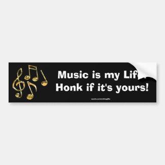 Pegatina para el parachoques del tema de la música etiqueta de parachoque