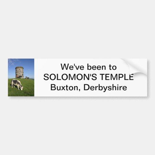 Pegatina para el parachoques del templo de Solomon Pegatina De Parachoque