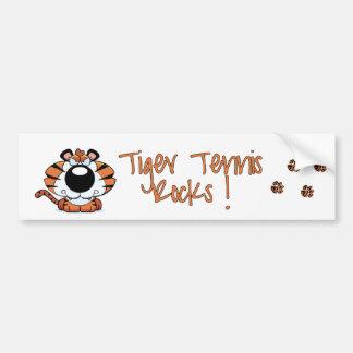 Pegatina para el parachoques del tenis del tigre etiqueta de parachoque