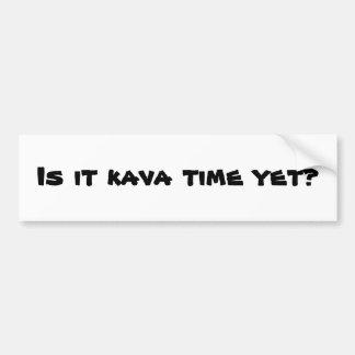 pegatina para el parachoques del tiempo del kava pegatina para auto