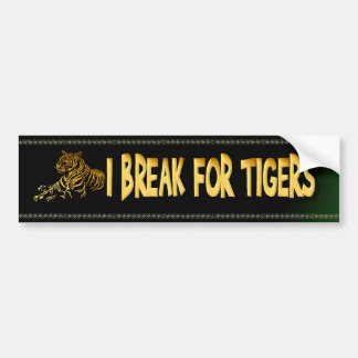 Pegatina para el parachoques del tigre del oro etiqueta de parachoque