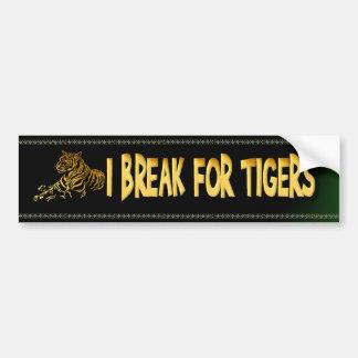 Pegatina para el parachoques del tigre del oro pegatina para auto