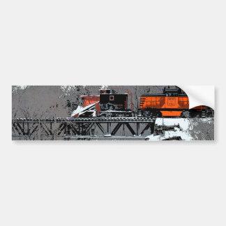 Pegatina para el parachoques del tren de la nieve pegatina de parachoque