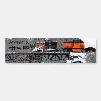 Pegatina para el parachoques del tren de la nieve  pegatina para auto