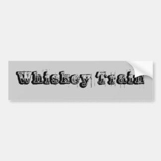 Pegatina para el parachoques del tren del whisky pegatina para auto