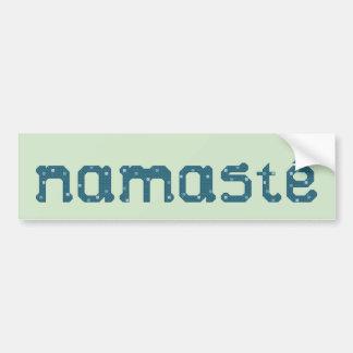 Pegatina para el parachoques del trullo de Namaste Etiqueta De Parachoque