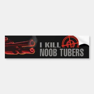 Pegatina para el parachoques del tubo de Noob Pegatina Para Auto