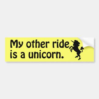 Pegatina para el parachoques del unicornio pegatina de parachoque