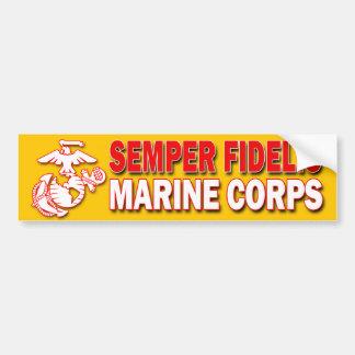 Pegatina para el parachoques del USMC Semper Pegatina Para Auto