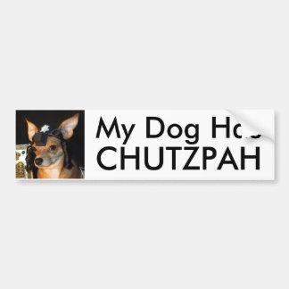 Pegatina para el parachoques del valor del perro d pegatina para auto