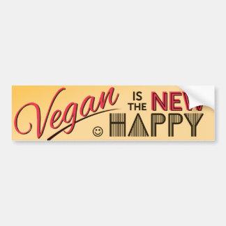 Pegatina para el parachoques del vegano pegatina para auto