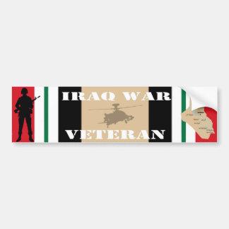 Pegatina para el parachoques del veterano de guerr etiqueta de parachoque