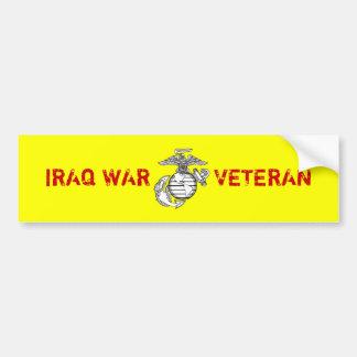 Pegatina para el parachoques del veterano de guerr pegatina para auto