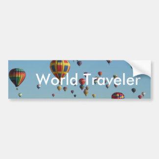 Pegatina para el parachoques del viajero de mundo pegatina para auto