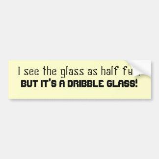 Pegatina para el parachoques del vidrio del regate pegatina para auto