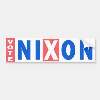 Pegatina para el parachoques del vintage de Nixon  Etiqueta De Parachoque
