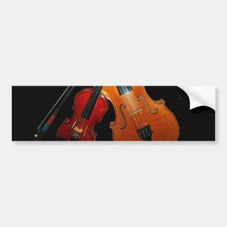 Pegatina para el parachoques del violín pegatina de parachoque