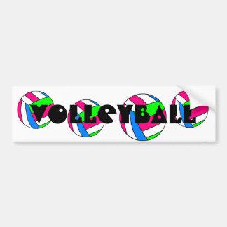 Pegatina para el parachoques del voleibol etiqueta de parachoque