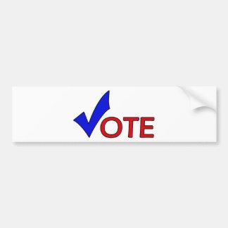 Pegatina para el parachoques del voto pegatina para auto