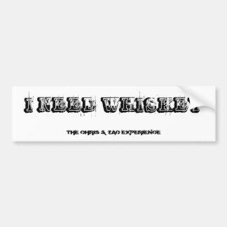 Pegatina para el parachoques del WHISKY Etiqueta De Parachoque