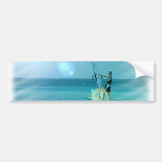 Pegatina para el parachoques del Windsurfer Pegatina De Parachoque