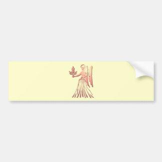 Pegatina para el parachoques del zodiaco del virgo pegatina para auto