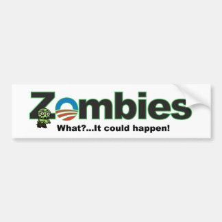 Pegatina para el parachoques del zombi de Obama Etiqueta De Parachoque
