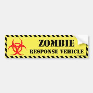 Pegatina para el parachoques del zombi pegatina para auto