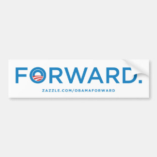 "Pegatina para el parachoques ""delantera"" de Obama  Pegatina De Parachoque"