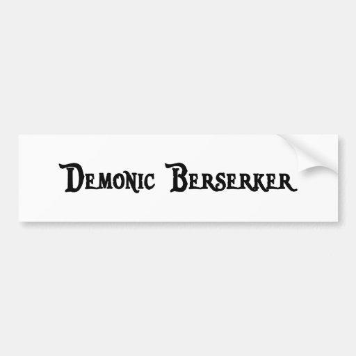 Pegatina para el parachoques demoníaca de Berserke Pegatina De Parachoque