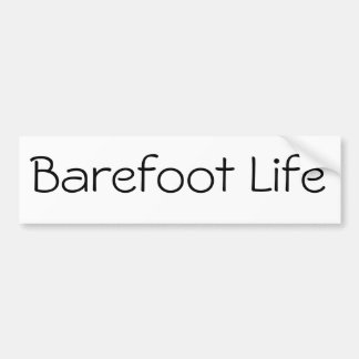 Pegatina para el parachoques descalza de la vida pegatina para auto
