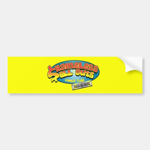 Pegatina para el parachoques desvergonzada de los  etiqueta de parachoque
