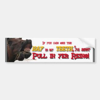 Pegatina para el parachoques divertida del caballo pegatina de parachoque