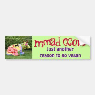pegatina para el parachoques divertida del vegano pegatina para auto