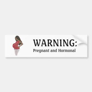 Pegatina para el parachoques DIVERTIDA embarazada  Pegatina De Parachoque