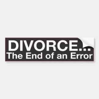 Pegatina para el parachoques: DIVORCIO… el final d Pegatina Para Auto