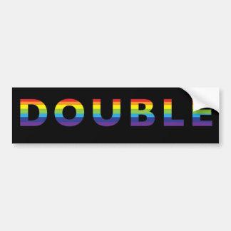 Pegatina para el parachoques doble del arco iris pegatina para auto