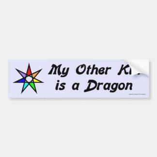 Pegatina para el parachoques - dragón etiqueta de parachoque