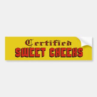 Pegatina para el parachoques dulce certificada de  etiqueta de parachoque