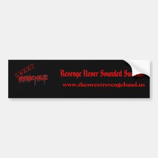 Pegatina para el parachoques dulce de la venganza etiqueta de parachoque