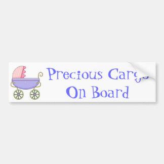Pegatina para el parachoques dulce del bebé del co pegatina para auto