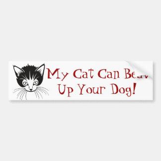 Pegatina para el parachoques dura del gato pegatina para coche