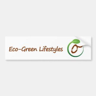 Pegatina para el parachoques Eco-Verde de la forma Pegatina Para Auto