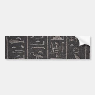 Pegatina para el parachoques egipcia de los jerogl pegatina de parachoque