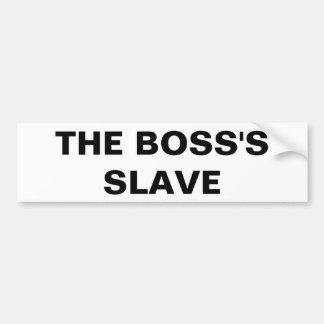 Pegatina para el parachoques el esclavo de Boss Pegatina Para Auto