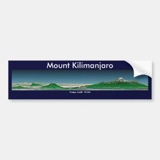 Pegatina para el parachoques/el monte Kilimanjaro Pegatina Para Auto
